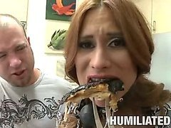 MILF gagged and fucked in the ass.