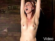 BDSM Movies Kinky redhead in bondage and