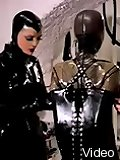 Latex mistress training rubber dolls