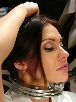 Sexual BDSM Hot brunette fucked in bondage and smutbdsm.com