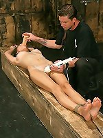 MaleDom Chick punished in bondage act and BondagePoint.com