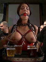 Beverly Hills gets tied up tight and fucked in a biker bar
