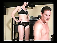 Another owned man slave gets training by mistress