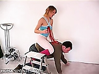 vanessa bedroom human pony smooth riding with strings