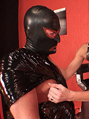 One very lucky slave receiving some attention from Lady Natalie Black