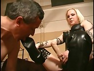 Humiliated lad getting drilled
