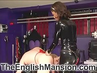 Hot mistresse copulates hostage ass