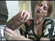 Wife gives kewl handjob for husband