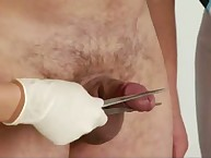 Extreme cbt exam of undressed boy