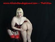 Mistress showed slave's awe-inspiring ass