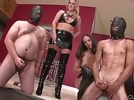 Femdom test with cruel dominatrix