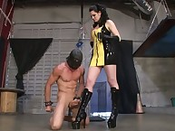 Dominatrix Katja Kassin got her ass licked by her foot slave's tongue