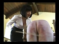 Masked slave was punished hard and his ass was ruined