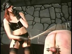 Dominatrix prefered caning