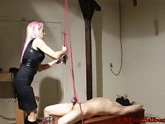 Poor slave was threaten to get castrated