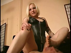 Mistress in cool boots got them liked by kinky subby