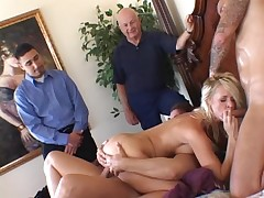Crazy wife decided to fuck three cocks at the same time