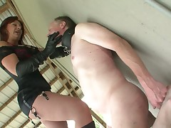 Hard slapping of helpless slave