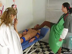 Nurse humiliated and used subby's cock