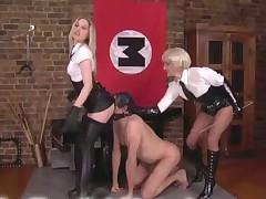 Bondage and harsh flogging for male serf