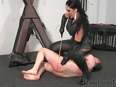 Locked up dude was punished by kinky domme