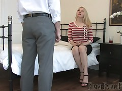 Humiliations and spanking of poor sub