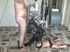 Chubby slave getting hardcore cbt