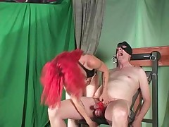 Redhead ballbusting Blooper trammels tripe