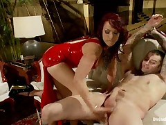 Dominatrix roped, teased and humiliated her sub
