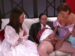 FEMDOM sph bridesmaids wank grooms closely guarded detect fro his strife = 'wife' observing