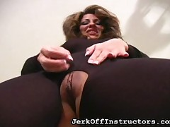 JO school showed pussy with the addition of exasperation skim through crack up pantyhose