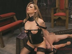 Lie low blondebabe femdom throning regarding footdom ass-licking bit
