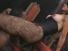 Tattoed tot femdom interracial upon footdom face sitting resolution