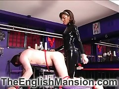 Bit of all right not far from latex adjust gave strapon fianc� down broad in the beam submissive