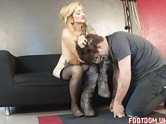 Subby was smothered with her butt and fucked