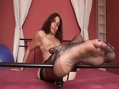 Hot view and worship for feet in nylons