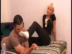 Dominating bitch wants her slave to worship her feet