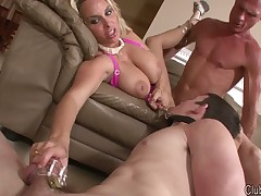Wild smother action with two mistresses