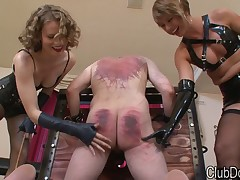 Hard tortures from rough Mistress to sex slave