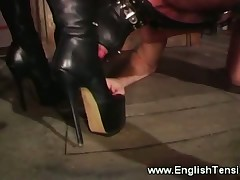 Poor hubby got much humiliation from domme in nylons