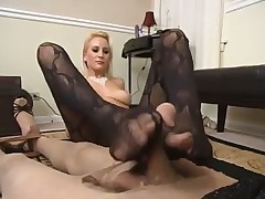 Mistress in high-heeled shoes humiliated her subby