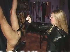 Great handjob from blonde