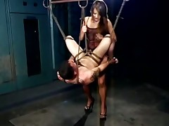 Kinky slave-master games with suspension