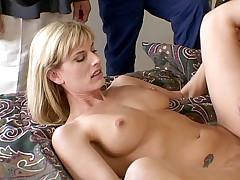 Tied up slave and lesdom sluts