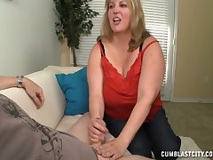 Booby hot mom getting her face hard jizzed