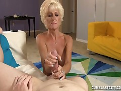 Of age bawd Nikki tugging fat load of shit together with rubbing away cum