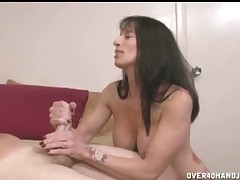Awesome bitch Ibette Blanche helps huge cock to cum