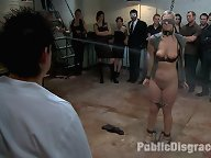 Tara Lynn Fox is tied up in inescapable bondage and fucked by random dudes