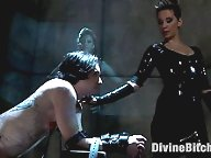 Veteran slaveboy shows his devotion to his mistress with self-flagellation, enduring CBT, predicament bondage and tease and denial