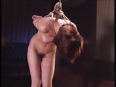 Asian Tied Standing And Spanked